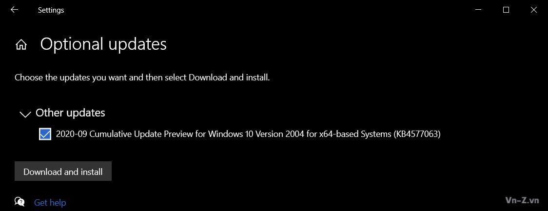september 2020 optional patch 1