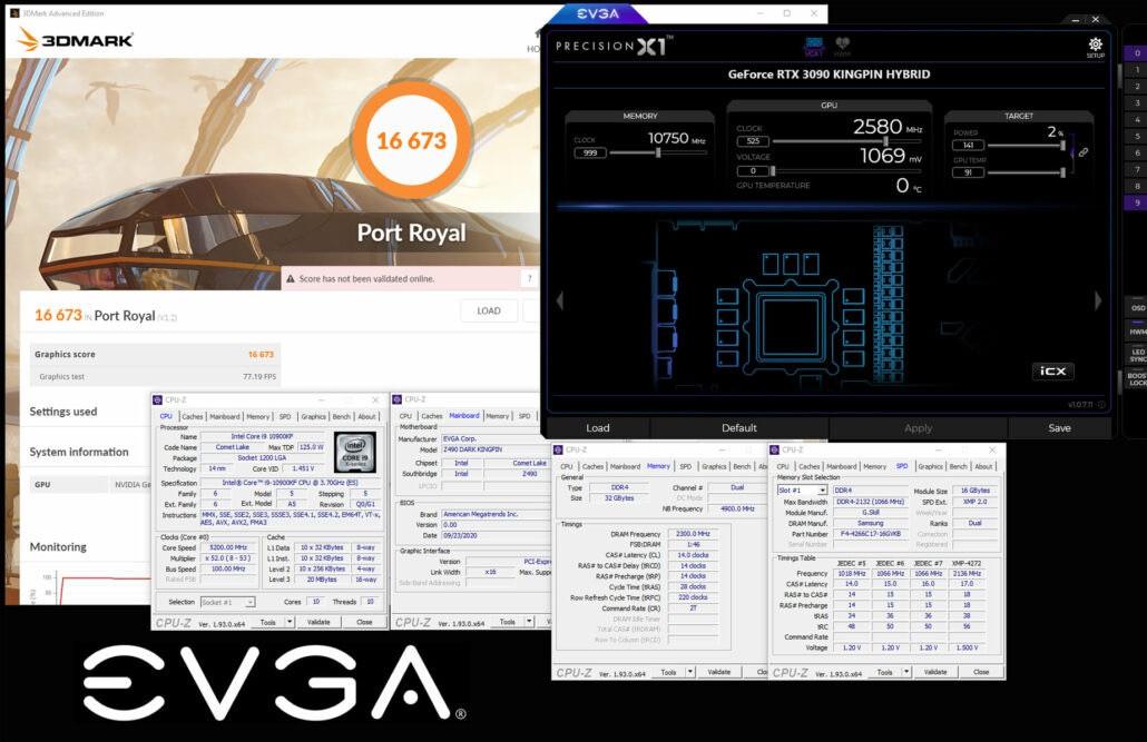 EVGA RTX 3090 KINGPIN phá kỷ lục ép xung tần số lên tới 2580MHz